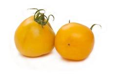 Two yellow tomatos Royalty Free Stock Photo