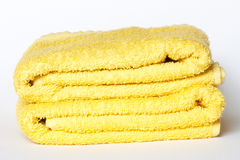 Two yellow towel Royalty Free Stock Images