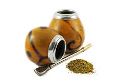 Two yerba mate gourds Royalty Free Stock Photo