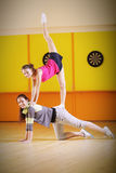 Two young acrobats Royalty Free Stock Images