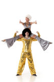 Two young acrobats. Stock Photography