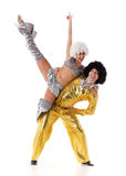 Two young acrobats. Royalty Free Stock Photos