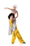 Two young acrobats. Royalty Free Stock Image
