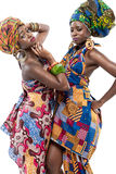 Two young African fashion models. Royalty Free Stock Photos