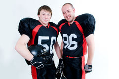 Two young American football players Stock Image