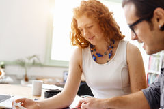 Two young architects in office Stock Photography