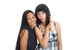 Two young asian girls Stock Photography