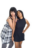 Two young asian girls Royalty Free Stock Photography