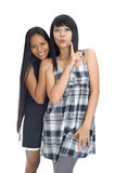 Two young asian girls Stock Image