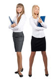 Two young attractive business women Royalty Free Stock Photo