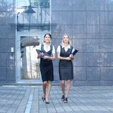Two young and attractive businesswomen Royalty Free Stock Image
