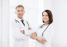 Two young attractive doctors Stock Photo