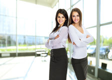 Two young, attractive successful business woman Stock Photography