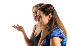 Two young attractive women Stock Photos