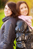 Two young attractive women's portrait Stock Photo
