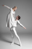 Two young ballet dancers practicing. attractive Royalty Free Stock Photos