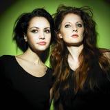 Two young beautiful girlfriends Stock Photo