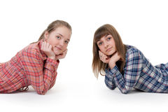 Two Young Beautiful Girls Stock Image