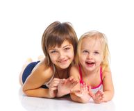 Two young beautiful girls Stock Images