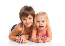 Two young beautiful girls Royalty Free Stock Image