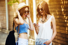 Two young beautiful girls Royalty Free Stock Photography