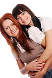 Two young and beautiful sisters Stock Image