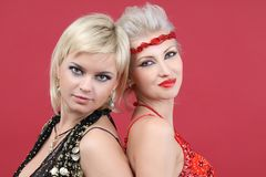 Two young beautiful woman Royalty Free Stock Images