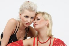 Two young beautiful woman Royalty Free Stock Image