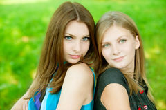 Two young beautiful  woman Royalty Free Stock Photo
