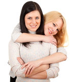 Two young beautiful woman  - friendship Royalty Free Stock Photo