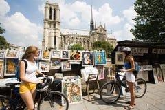 Woman visiting paris royalty free stock image
