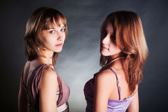 Two young beautiful women Stock Image