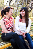 Two young beautiful women Royalty Free Stock Photos