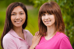Two young beautiful women Royalty Free Stock Photography