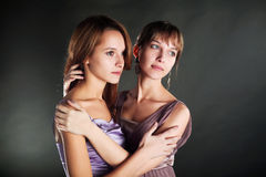 Two young beautiful women Royalty Free Stock Photo
