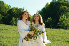 Two young beautiful women Royalty Free Stock Photo