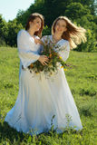 Two young beautiful women Royalty Free Stock Images