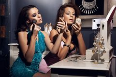 Two young beauty Royalty Free Stock Photos
