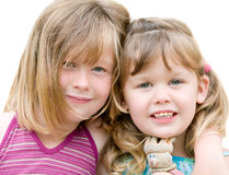 Two young blond sisters Royalty Free Stock Photo