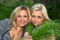 Two young blonde Royalty Free Stock Photo