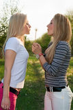 Two young blonde Royalty Free Stock Image