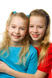 Two young blonde girls Royalty Free Stock Photography