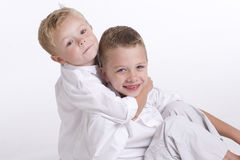 Two Young Boys Royalty Free Stock Photos