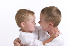Two Young Boys Stock Photo