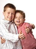 Two young boys with thumbs up Stock Image