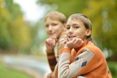 Two young boys Stock Photos