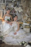Two Young Brides Royalty Free Stock Photo