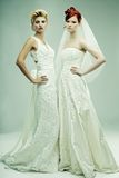 Two young brides Royalty Free Stock Images