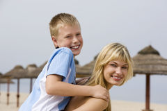 Two young brother and sister Royalty Free Stock Photography