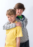 Two Young Brothers Royalty Free Stock Images